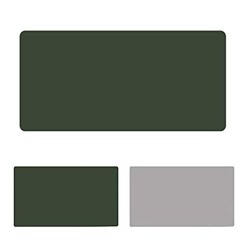 LYQCZ Alfombrilla De Escritorio, Estera Protector De Escritorio Oficina, CojíN De Escritorio De Cuero Extendido De Doble Lado Alfombrilla De RatóN De Cuero, Verde+Gris(Size:60x110cm/23.62x43.31in)