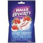 Halls Fruit Breezers Creamy Strawberry by Halls