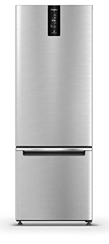 Whirlpool 325 L 3 Star Frost Free Double Door Refrigerator (IF PRO BM INV 340 ELT+, Omega Steel, Bottom Freezer)
