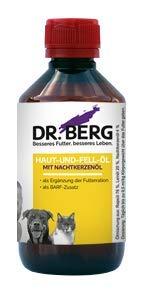 Dr. Berg Haut-UND-Fell-ÖL mit Nachtkerzenöl: Nahrungsergänzung für Hunde und Katzen mit Haut- und Fellproblemen - gesund und verträglich durch hochwertige, natürliche Zutaten - auch für Barf - 250 ml