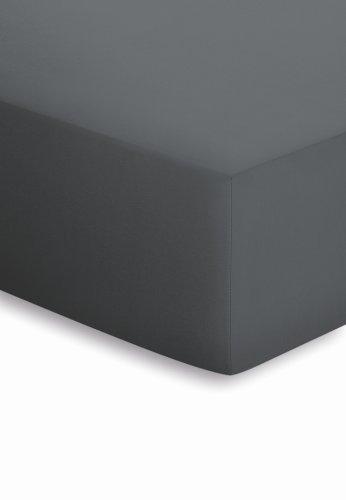 schlafgut Jersey-Elasthan Spannbetttuch, Baumwoll-Mischgewebe, Titan, 220 x 100 x 1 cm