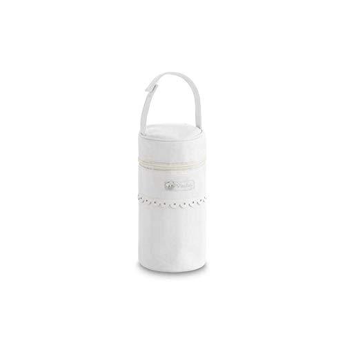 Bimbi Portabiberones Ecopiel 296 Rombos 902 01 Blanco - Fundas para biberones, unisex