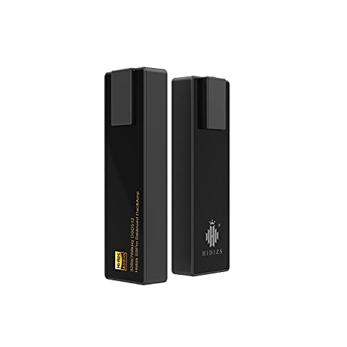 HIDIZS S9 PRO Balanced & Single-Ended Mini HiFi DAC & AMP, 768kHz/32Bit, DSD512 Portable Audio Decoding Amplifier for iPhone iPod Android PC with Windows/Mac OS/iOS/iPad OS System (Black)