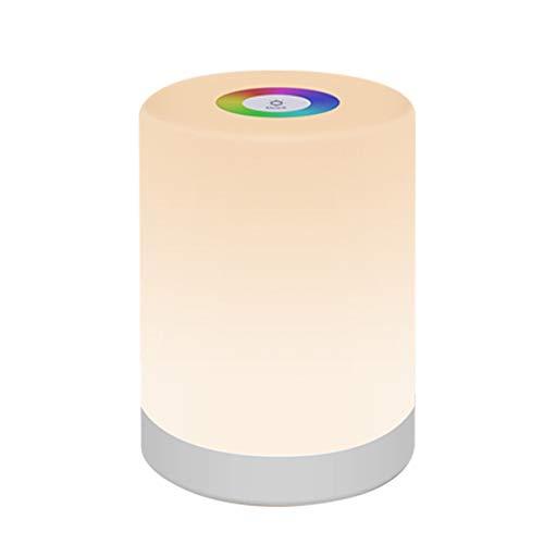 Veilleuse à LED, EONANTmini Lampe de Chargement Lumière Intelligente à Commande Tactile Couleur 7 Couleurs Thèmes de la Lampe de Chevet