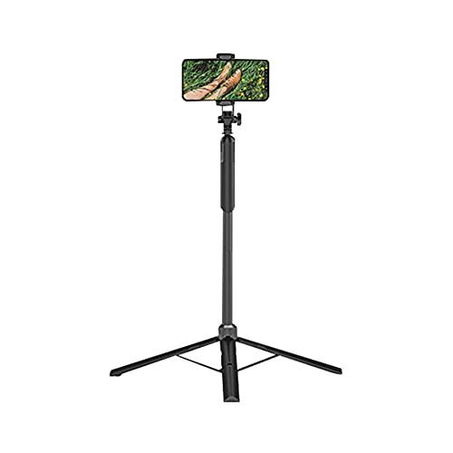 InnerSetting Soporte telescópico para teléfono trípode plegable para fotografía de vídeo en vivo (0,8 m)