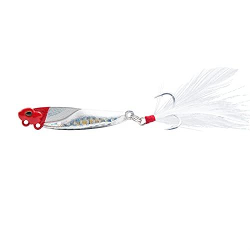 L-MEIQUN, 1pc VIB Fishing Señuelos de Pesca BAIT10G / 15G / 20G Cebo Artificial Minnow Wobbler Bass Spinning Buceo Cebo para Pescar Tackle Señal (Color : 1, tamaño : 56mm 20g)
