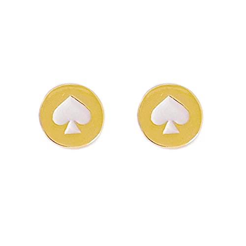 YFZCLYZAXET Pendientes Mujer Pendientes Casuales De Moda Pendientes Simples De Personalidad Salvaje Pendientes Clásicos-Blanco