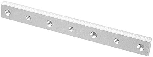 Namvo 2 piezas de aleación de aluminio 30/45 tipo T-Slot Miter Track Jig T Tornillo Ranura de fijación Herramienta de carpintería con ranura