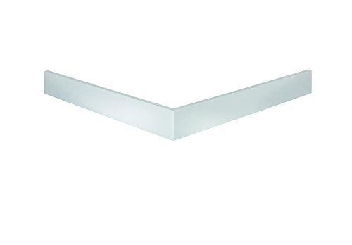 Schulte Duschwannen-Schürze 90x90 cm, Quadrat extra-flach, Höhe 11 cm, Sanitär-Acryl alpin-weiß