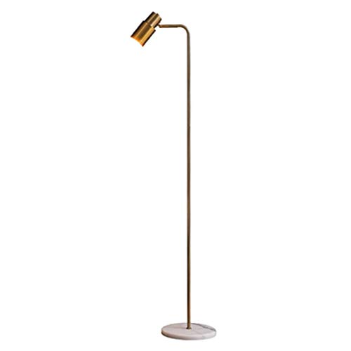 Lámpara de pie Industrial Lámpara de pie ajustable, 65 pulgadas de metal de la lámpara de pie, for la sala de lectura de la luz del piso Dormitorio Oficina Luz de Pie (Color : Gold)