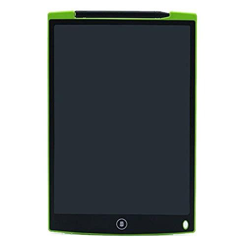 Clhbaih Tablero de Dibujo 8.5 / 12InCH LCD Escritura Tableta Dibujo electrónico Doodle Tablero Digital Dibujos de Papel Libreta sin Papel para niños y Regalo para Adultos (Color : 12Inch Green)