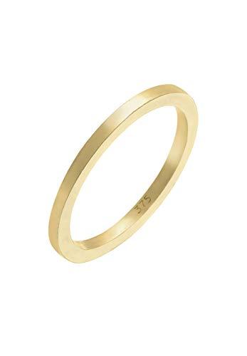 Elli PREMIUM Ring Damen Basic Klassik Ehering in 375 Gelbgold