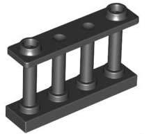 LEGO Nuevo 1x4x2 valla negra con barras (10 por paquete)