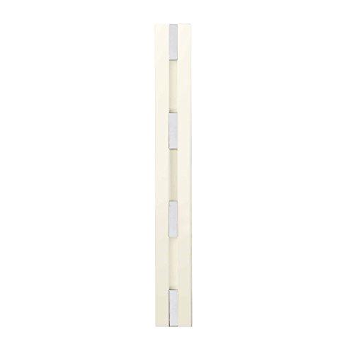 Knax 4 garderobe verticaal wit opklapbare haken garderobe strip smal