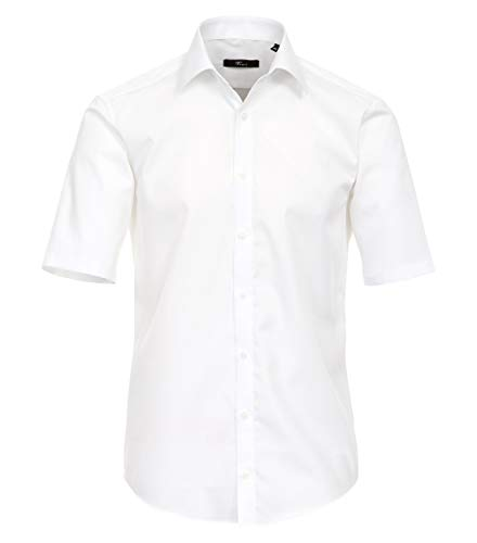 Venti 1620, Camicia formale a maniche corte Uomo, Bianco, 43