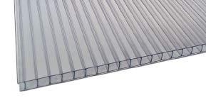 IRONLUX Pack 8uds Placa o Panel de policarbonato Celular - 6mm -150x105 cm (Transparente)