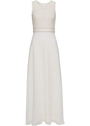 bonprix Langes Abendkleid mit Pailletten und fließendem Rockteil Creme 146 c 44 für Damen