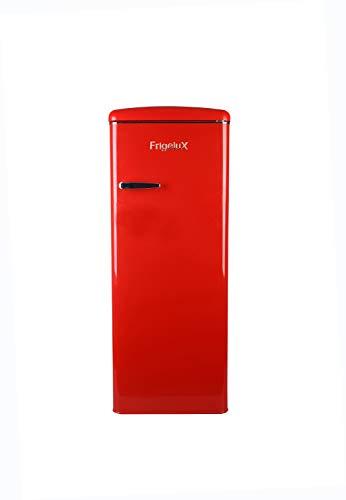 FrigeluX - Réfrigérateur Armoire Rétro RF218RRA++ - Réfrigérateur Congélateur 218L dont Congélateur 23L - Dégivrage Automatique - Pose Libre - Style Vintage Années 50 - Rouge