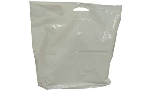 HAPPEL 8782370 Poly-Tragetaschen, weiß, LDPE, (B)380 x (T)50 x (H)450 mm