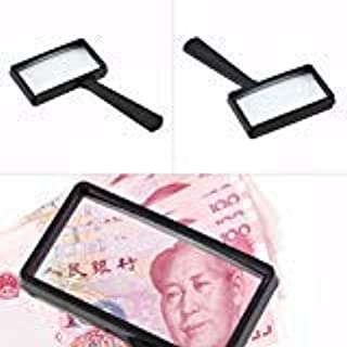 5X Rectangular Handheld Magnifier Magnifying Glass Loupe For Reading Jewelry
