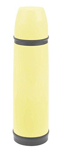 Culinario Thermoflasche mit Trinkbecher, aus Edelstahl/Kunststoff, doppelwandig, trendiges Design, ca. 0,5 Liter, in gelb