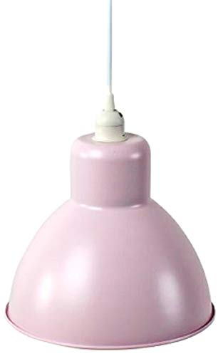 Bada Bing Hochwertige Pendelleuchte Pastell Rosa Ø 26 cm Lampe Im Retrodesign Metall Hängelampe Deckenleuchte Deckenlampe 50