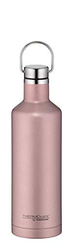 ThermoCafé by THERMOS Thermosflasche Traveler Bottle Rosé Gold 500ml, Edelstahl Trinkflasche 100% dicht auch bei Kohlensäure, Isolierflasche 12 Stunden heiß, 24 Stunden kalt, BPA-Frei, 4070.284.050