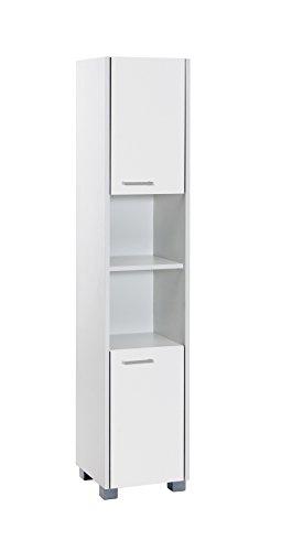 Schildmeyer Laif Hochschrank, Holz, Weiß, 30 x 30.2 x 150.5 cm