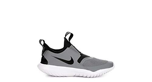 Nike Flex Runner (gs) Big Kids At4662-004 Size 4.5, Cool Grey/Black-white