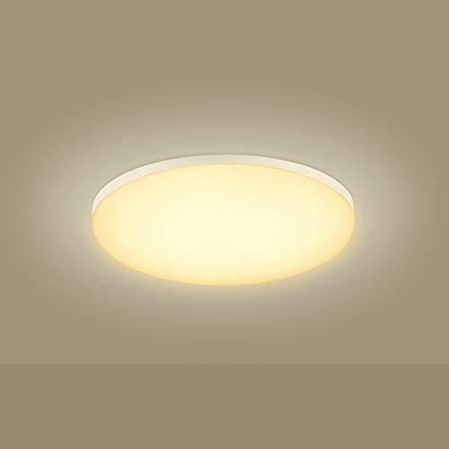 Viugreum led lámpara de techo, Blanco Frío/Blanco Cálido plafónes led techo, lampara de techo empotrada adecuada para salón, cocina, dormitorio, baño, escalera, porche, pasillo (18W Blanco Cálido)