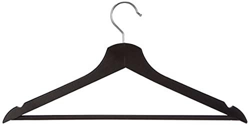 Ikea IKE-202.385.34 Holzkleiderbügel Bumerang Bügel 43 cm breit aus massivem Laub-Holz-SCHWARZ, 8-er Pack