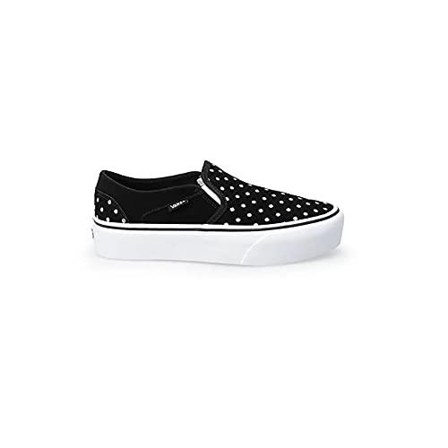 Vans Asher Platform, Zapatillas Mujer, Suede Dots Black White, 35 EU