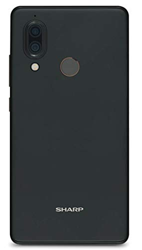 Sharp Aquos D10 Smartphone, Full HD+ Display, 14, 9 cm (5.99 Zoll),64 GB interner Speicher, 4 GB RAM,Dual SIM,Android 8.0, 2900mAh,12+13 MP Hauptkamera,Gesichtsentsperrung, Fingerabdrucksensor-Schwarz