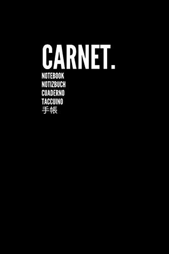 Carnet Notebook Notizbuch Cuaderno Taccuino 手帳: Carnet de Notes Journal Large, Vierge, Papier Ligné | Parfait pour le travail scolaire Enfants Étudiants Hommes Femmes Garçons et filles (Noir)