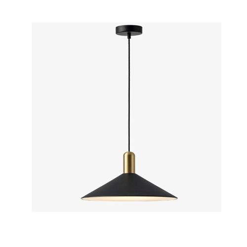 ZGZRXGY Loft Industrial Style Rural Colgante Iluminación Negro Oro Blanco Advanced Chandelier Ahorro de energía para la Granja, Garaje,...