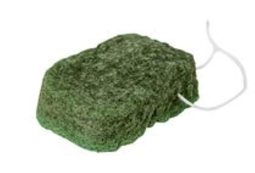 切断する盆満州こんにゃくスポンジ『和の力』 ボディ 緑茶