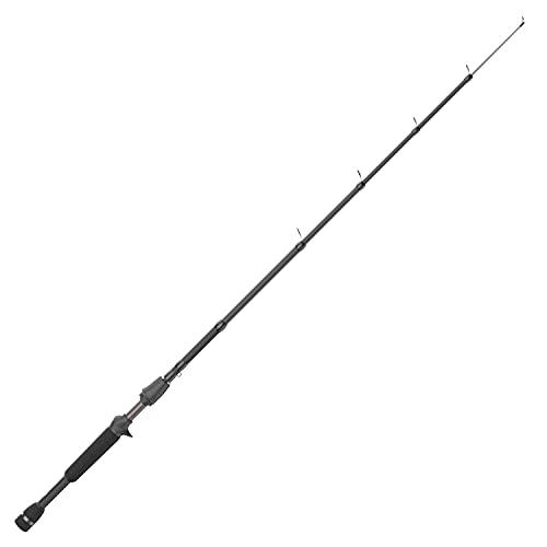 Quantum Embark Telescopic Casting Rod, 18-Inch to 6-Foot 6-Inch Telescopic Fishing Rod, IM6 Graphite Rod, Solid Glass Tip, Durable EVA Handle, Black