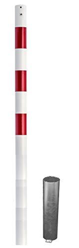 ABSPERRPFOSTEN aus Stahlrohrø60x2,5mm, ohne Öse, herausnehmbar mit Bodenhülse