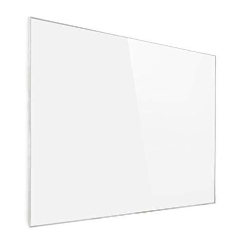 Klarstein Wonderwall - Pannello Riscaldante a Infrarossi, Cristalli di Carbonio, Antiallergico, IP24, Termostato, Timer, 1200W, 100 x 120 cm, Bianco