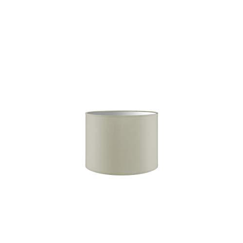 Lampenschirm rund | Bling | Stofflampenschirm | Textilschirm | Baumwolleschirm | Für E27 Fassung | Durchmesser 25cm Höhe 18,5cm | Warm Weiß | Für alle Innenraumen IP20 | Ohne Leuchtmittel