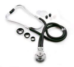 McKesson Sprague Stethoscope, Black 16 Inch Tube 01-640BKMCE, 1 Ct