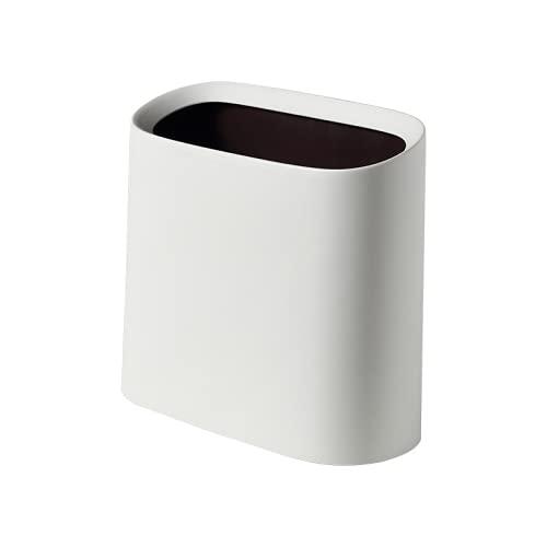 RUONING Cubo de basura para el hogar, sala de estar, cocina, baño, oficina, 10 l, color blanco