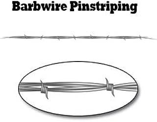 Gray Barbwire Pinstripe Decal - 48