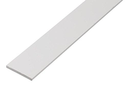 GAH-Alberts 479404 Flachstange | Kunststoff, weiß | 1000 x 25 x 2 mm