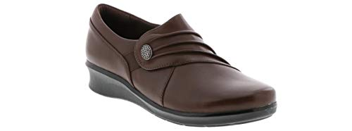 Clarks Women's Hope Roxanne Loafer, Brown Leather, 8 M US