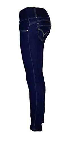 Pantalon Vaquero De Mujer Jeans Push-up Levanta Cola Colombi