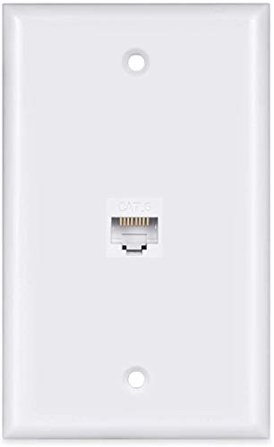 1 Port Ethernet Wall Plate -VICTEK - Cat6 Ethernet Cable Wall Plate Female to Female Compatible with Cat7 Cat6 Cat5 Cat5e - White…