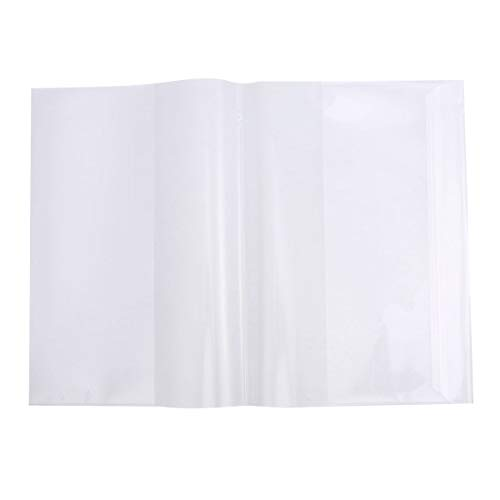 Toyvian 5 unids 16 K libro de texto claro cubierta impermeable pl/ástico libro cuaderno nota