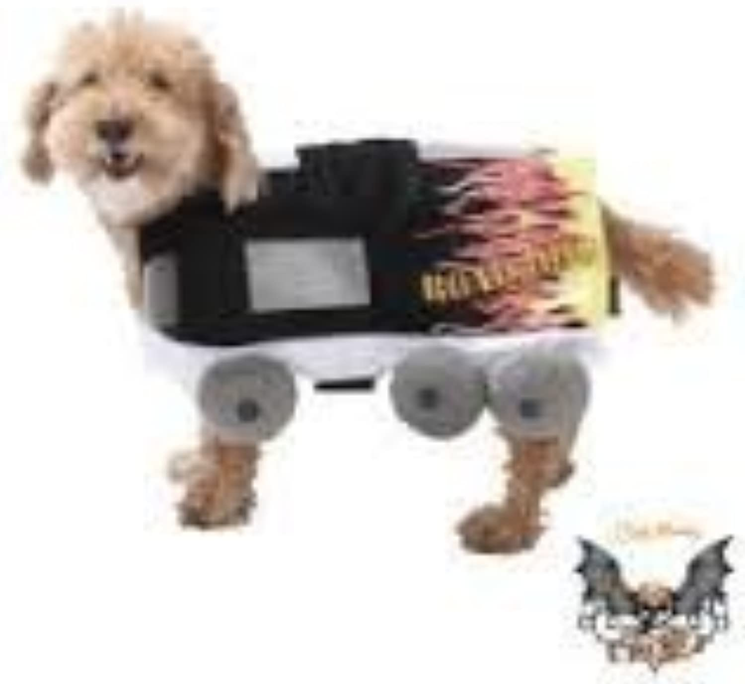 Road Dog Costume with Flames, Size XSmall