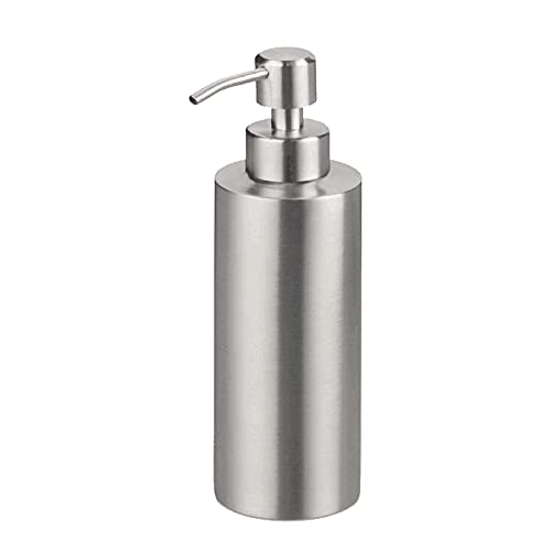 Sinolofty Dispenser di sapone da 550 ml, in acciaio inox vuoto, dispenser di sapone per bagno e cucina